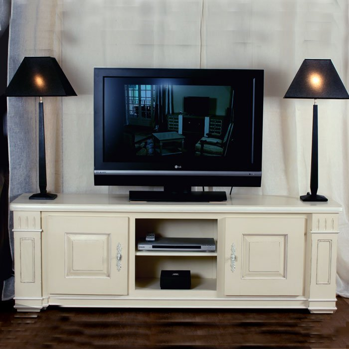 meuble tv gourdon 2 portes ref t147 l 39 atelier du moulin de provence. Black Bedroom Furniture Sets. Home Design Ideas