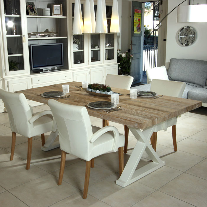table salle a manger bois naturel un79 jornalagora. Black Bedroom Furniture Sets. Home Design Ideas