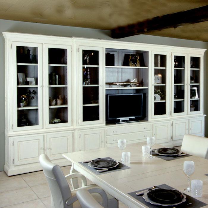 biblioth que monaco 6 portes ref t113 l 39 atelier du moulin de provence. Black Bedroom Furniture Sets. Home Design Ideas