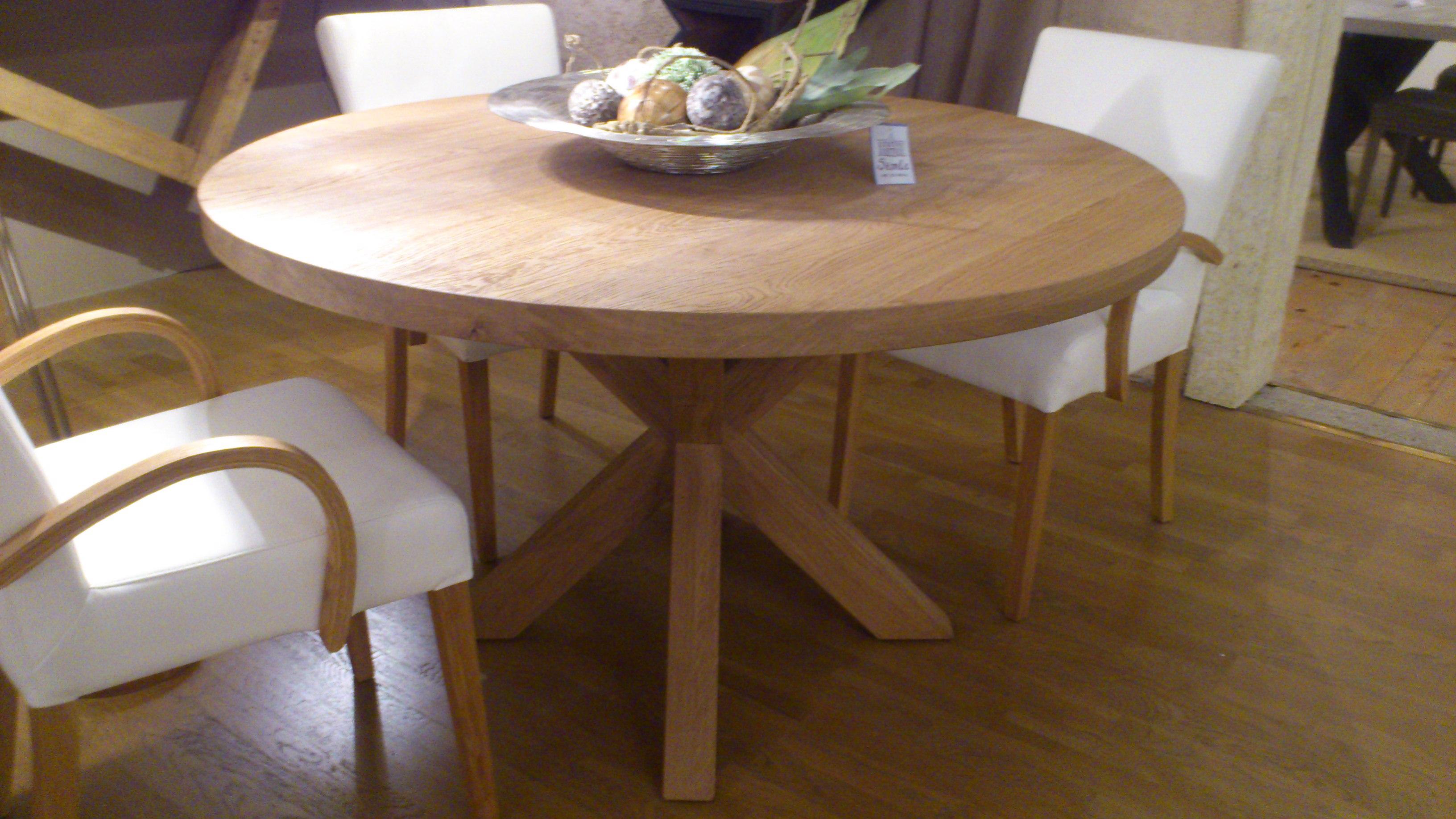 table ronde ch ne toutes dimensions sur devis l. Black Bedroom Furniture Sets. Home Design Ideas