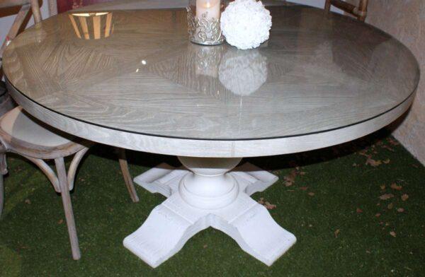 Table ronde pied central, diamètre 140. ____ réf T197