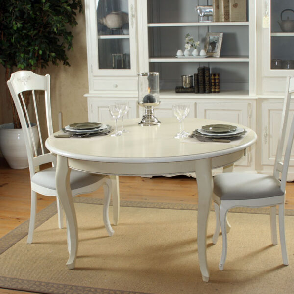 Table repas pieds galbés Ref : T60