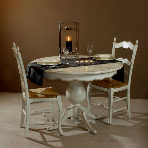 Table repas pied central T95