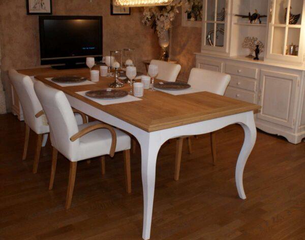 Table repas plateau chêne 100 x 200 ou 300m avec allonge Ref T194