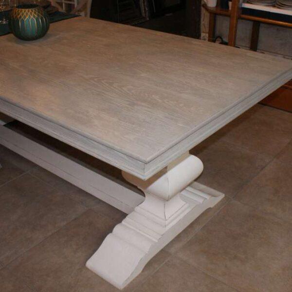 Table repas - pieds balustre - 100 x 220