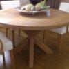 Table ronde chêne. Toutes dimensions. Sur devis
